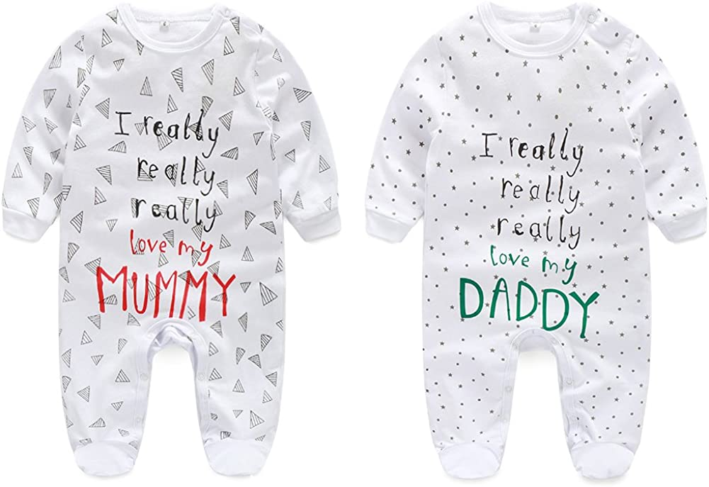 Classic Proposal Baby Romper Jumpsuit with feet Mummy Will You Marry My Daddy Black 0-3 Months