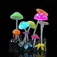 SLOCME Aquarium Glowing Mushroom Decorations - Fish Tank Decoration Silicone Ornament, Eco-Friendly for Freshwater…
