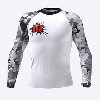 MASHU Fight Wear Gold//Black Samurai Warrior Mens BJJ MMA Martial Arts Grappling Jiu Jitsu Rash Guard Compression Shirt
