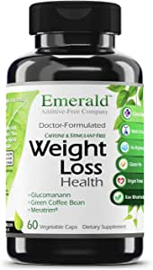 Amazon Com Emerald Laboratories Weight Loss Health With Green Coffee Bean Extract Meratrim And Konjac Root