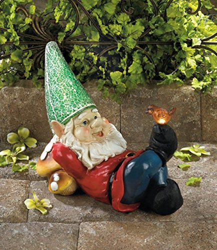 Wonderful Garden Gnome Funny Lazy Statue Garden Decor And Ornament With Solar Powered  Light For A Magical