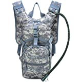 BaronHong Tactical Hydration Pack Backpack with 3 L Bladder for Hiking,Biking,Running,Walking and Climbing