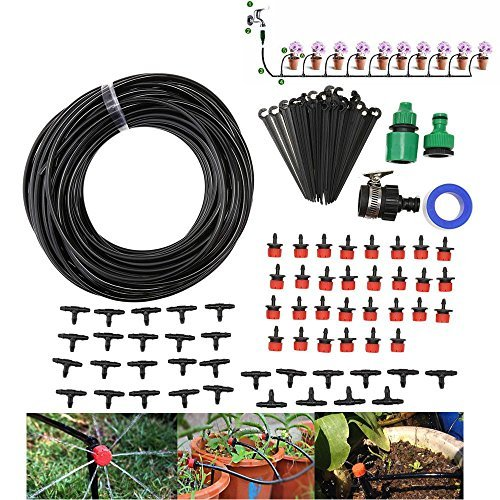 Lychee Limited Irrigation Spray for Patio Garden Flower Plants 82ft Pipe Lysport 93 in 1 DIY Micro Irrigation Drip System-Tubing Watering Drip Kit