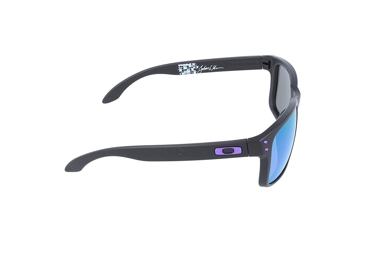 677ef5783 free shipping oakley holbrook julian wilson signature series oo9102 26  iridium sport sunglassesmatte black violet iridium55