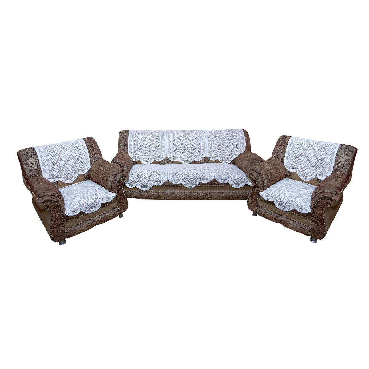fabindia sofa designs refil sofa design living room online Buy Kuber IndustriesTM White 5 Seater Net Sofa Cover Set -10 Pieces (Self  Design) Code-VA82103 Online at Low Prices in India - Amazon.in