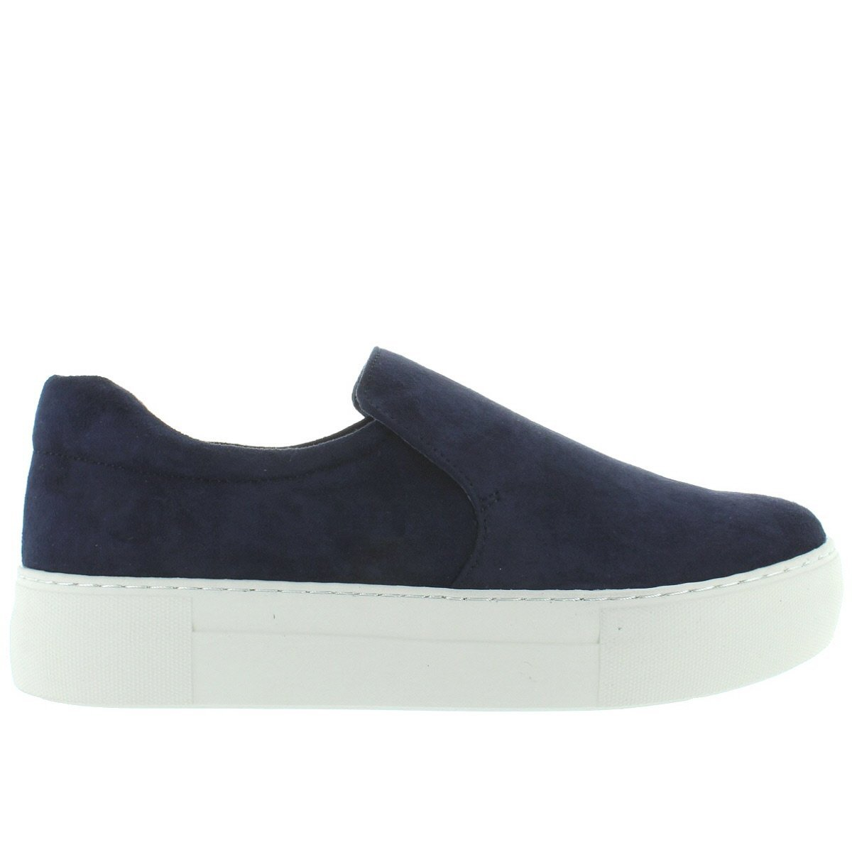 6ac86402a4bbd Amazon.com | J Slides Acer - Navy Suede Slip-On Flatform Sneaker | Shoes