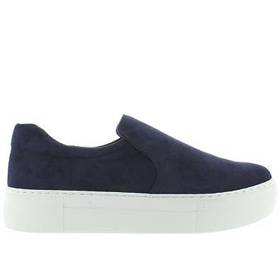 526d810a7a1f J Slides Acer - Navy Suede Slip-On Flatform Sneaker - Size  6.5