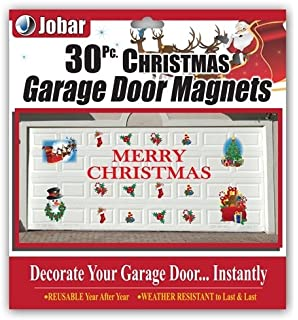 Elegant Merry Christmas Garage Door Decals