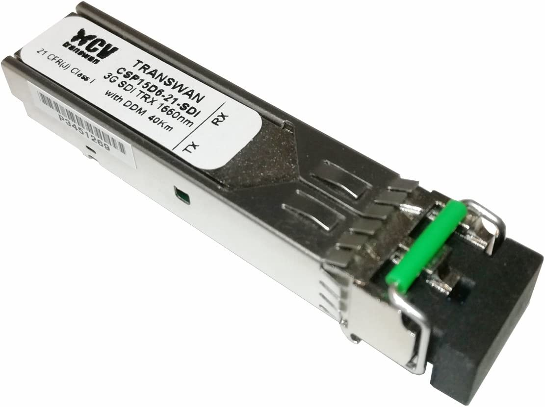 Transwan 3G SDI Singlemode Módulo Óptico SFP, 1550nm DFB TRX ...