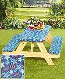 #6: 3-Pc. Picnic Table Covers (Americana Stars)