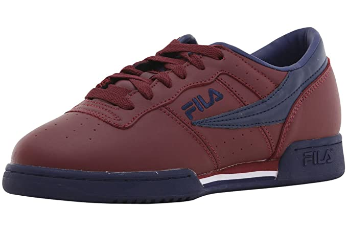 2c123ffc228f Image Unavailable. Image not available for. Colour  Fila Men s Original  Fitness Bordeaux Red Fila Navy White Sneakers Shoes ...