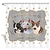 CafePress Three Bull Terriers Cant Have Just One Blanket Sho Decorative Fabric Shower Curtain (69''x70'')