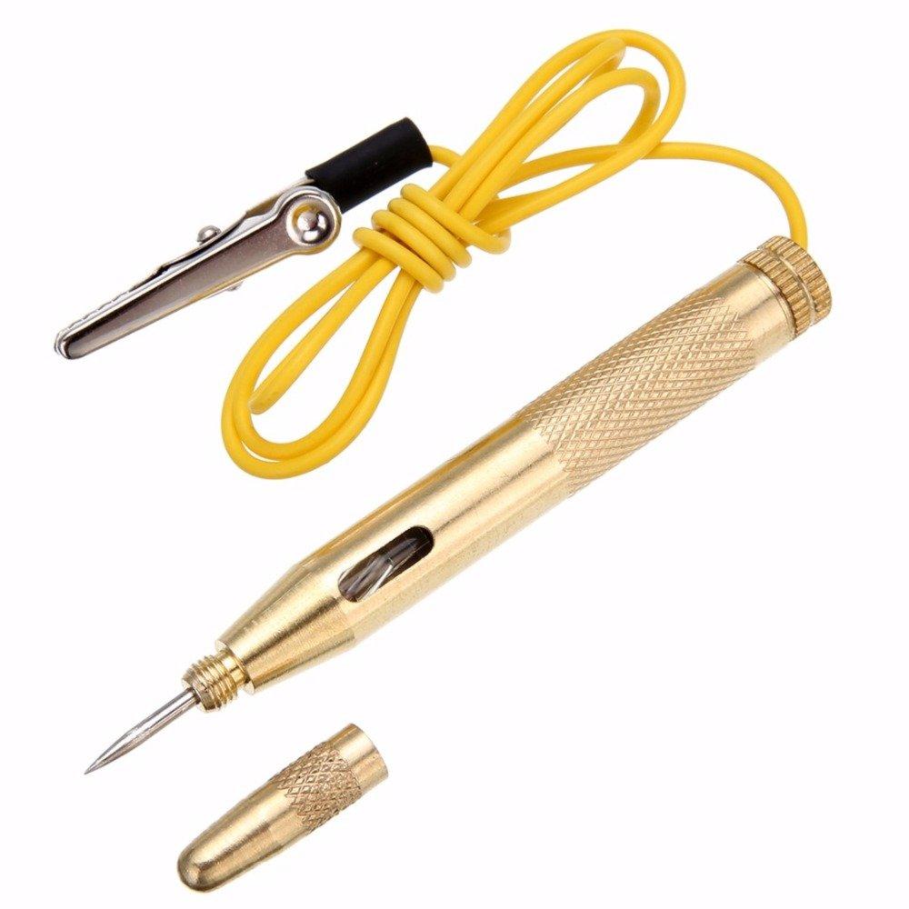 Haobase comprobador de voltaje de coche herramienta para auto cami/ón DC 6 V//12 V//24 V circuito el/éctrico de prueba