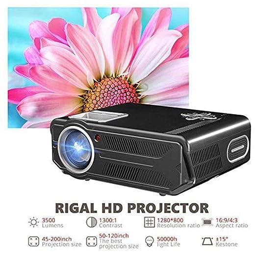 Proyector Proyector WiFi HD, 3500 lúmenes LED Micro ...