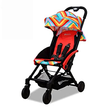 HJHY Carros de bebé, Paisaje alto Paraguas plegable coche Ultra-ligero portátil Puede acostarse