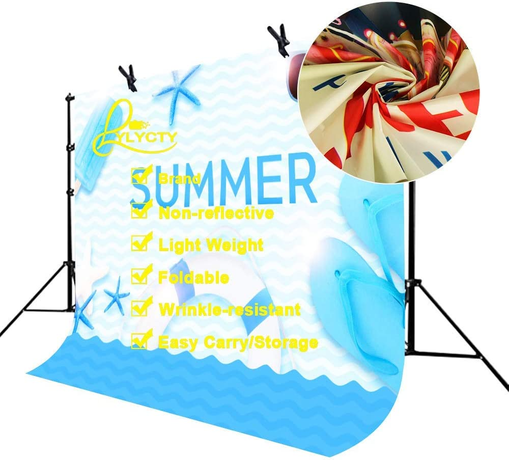 5x7ft Vinyl Summer Backdrop for Photography Cartoon Sea Beach Photography Backdrop for Children Theme Party Photo Background Props LYZY0281 for Party Decoration Birthday YouTube Videos School Photosho