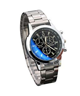 Auwer Watch, Men's Stainless Steel Sport Quartz Hour Wrist Analog Watch (Black)