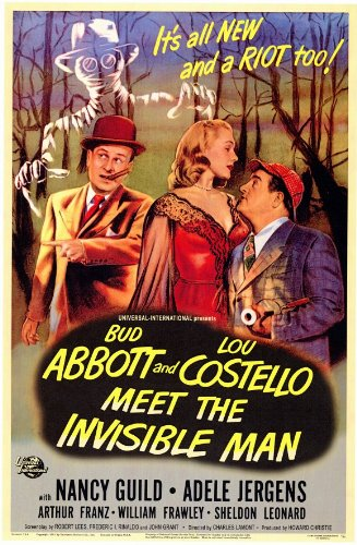 Image result for abbott & costello meet invisible man poster