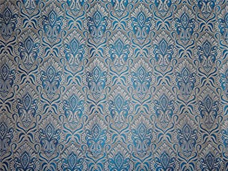 Brocado tela azul 44