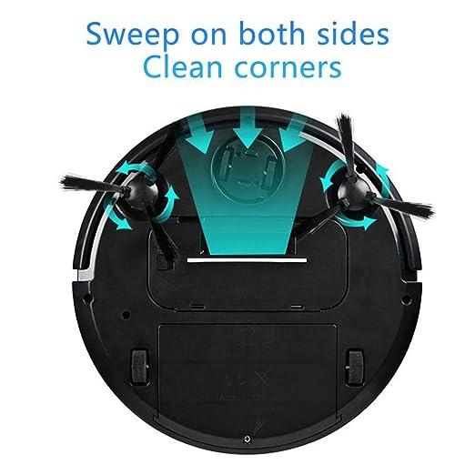 TRULIL Robot Aspiradora Robot Mini máquina barredora para el hogar Lazy Smart Sweeper de Limpieza para Suelos Barrer y Fregar automáticamente anticaída, ...