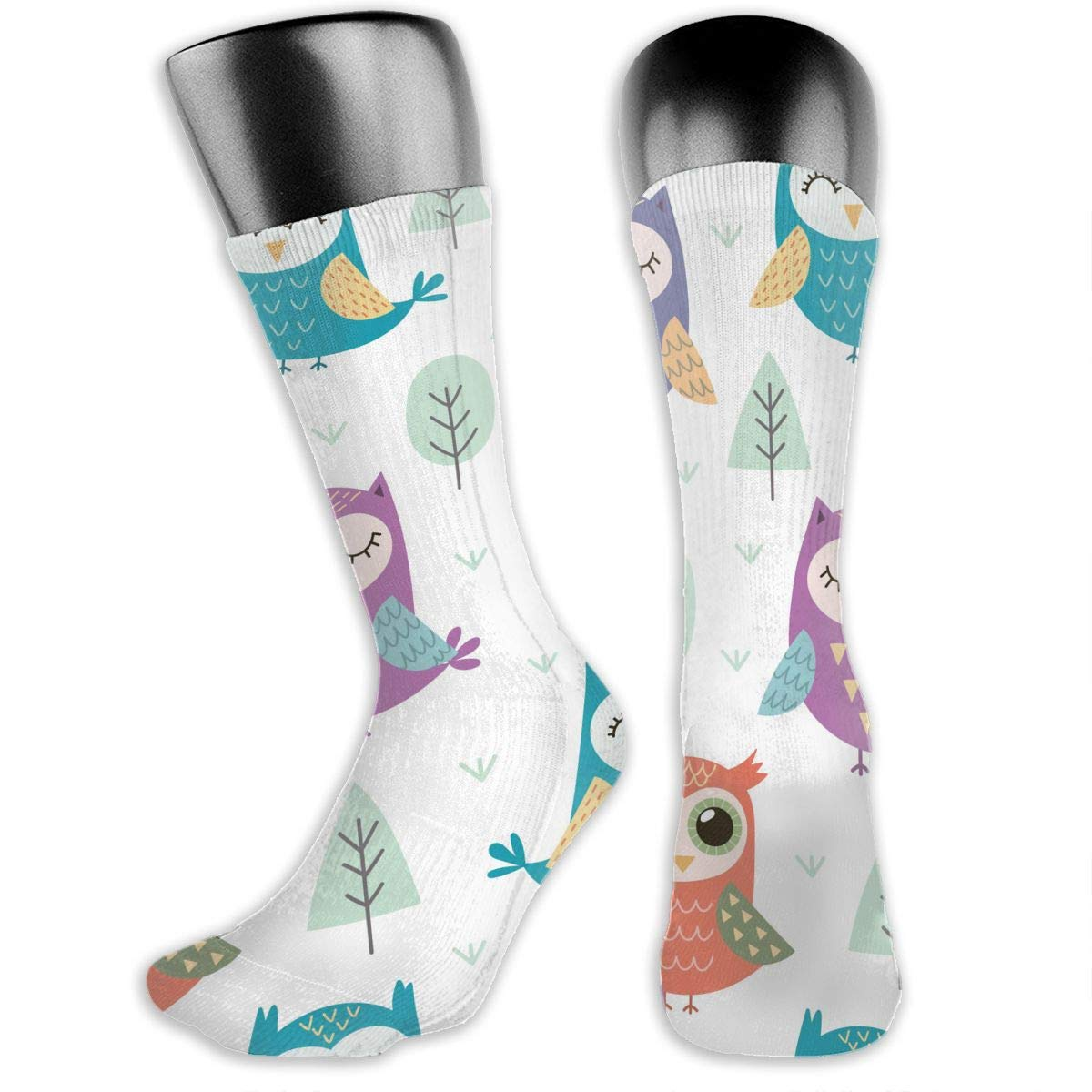 OLGCZM Cute Owls Pattern Men Womens Thin High Ankle Casual Socks Fit Outdoor Hiking Trail