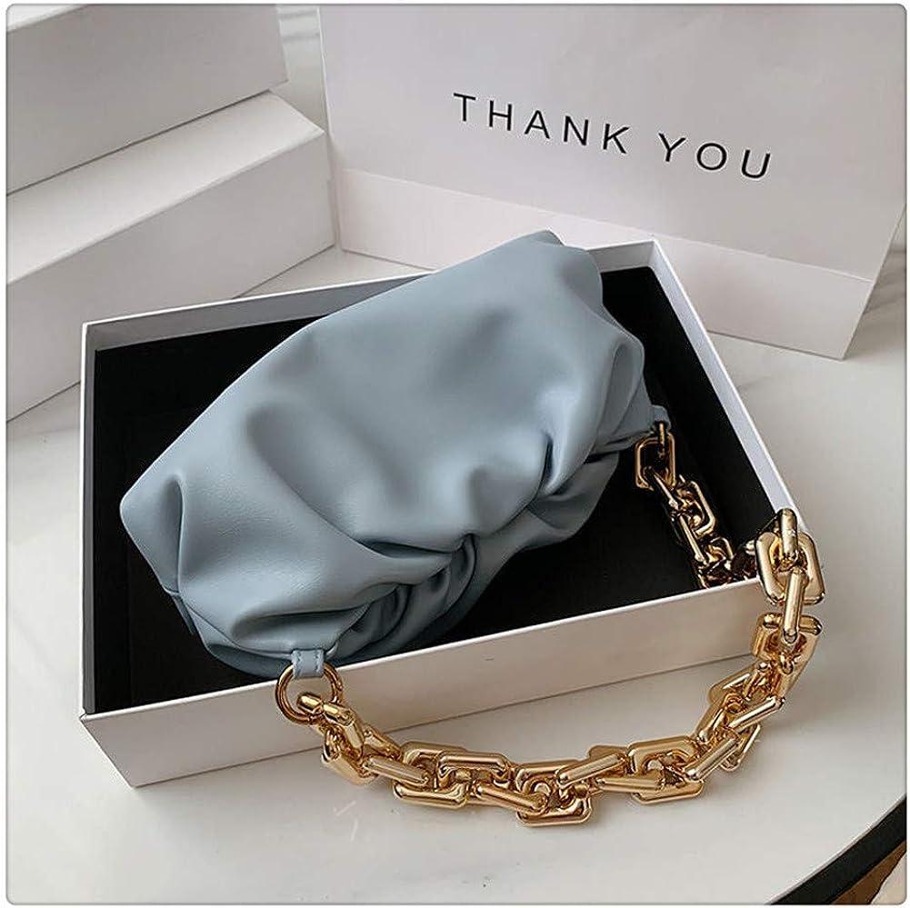 Thick Chain Cloud Bag Retro Baguette Bag New Soft dumpling bag Designer Female Dumpling Bag Cowhide Leather Clutch handbag