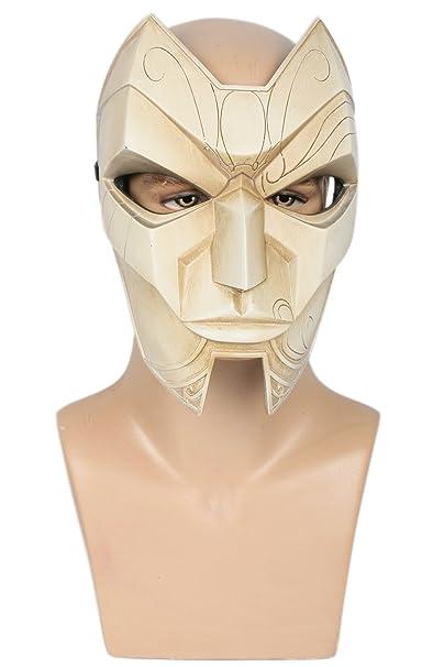 Xcoser Jhin Cosplay Mask Costume Props For Halloween Resin Amazon