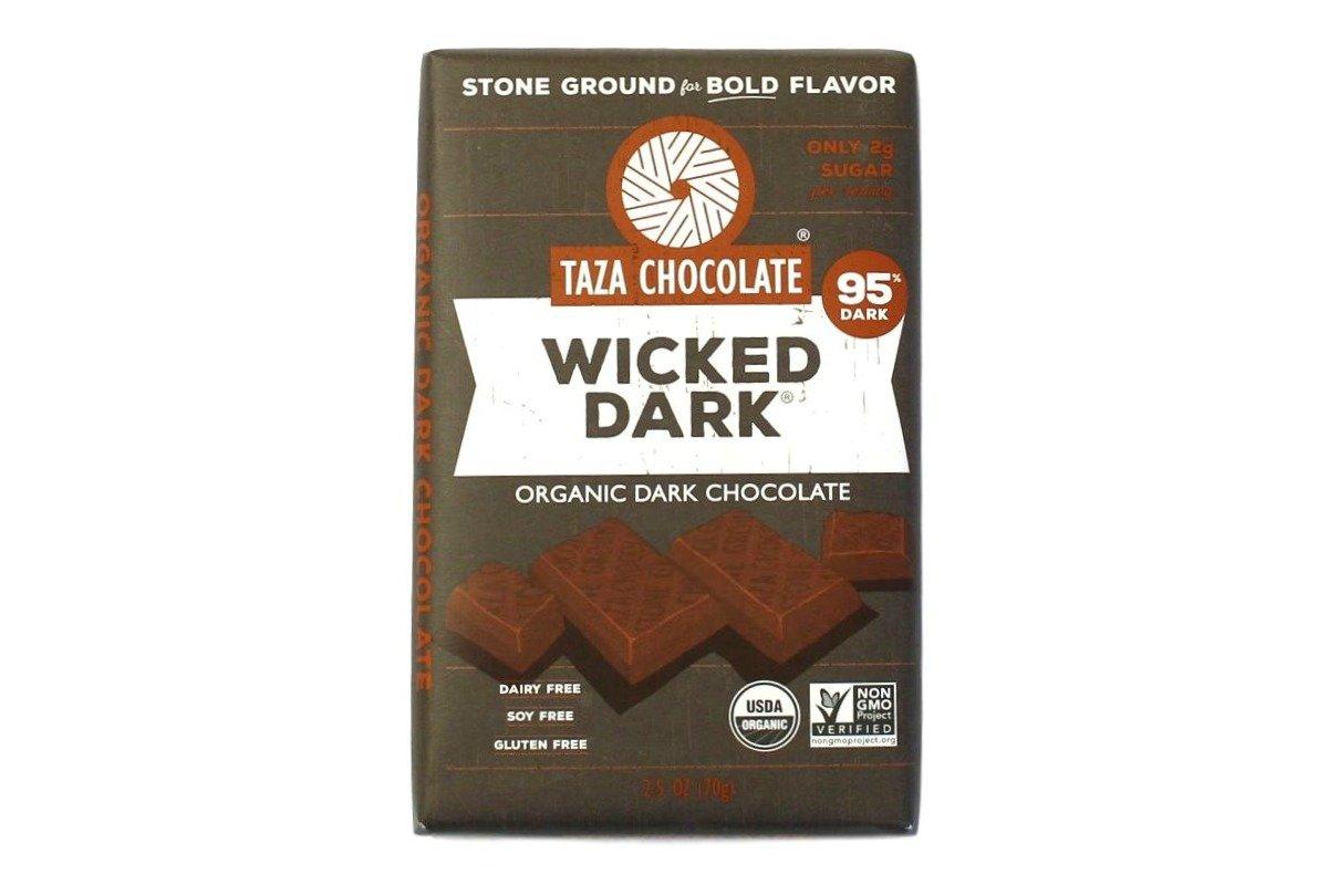 Taza Chocolate   Amaze Bar   Wicked Dark   95% Stone Ground   Certified Organic   Non-GMO   2.5 Ounce (1 Count)