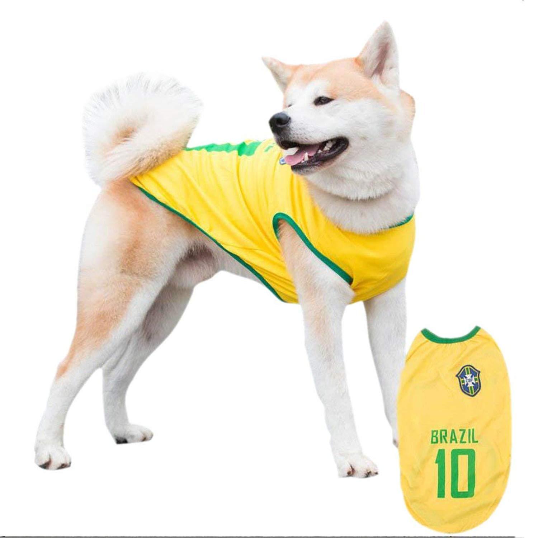 e84d365e0f2 Siray World Cup FIFA Brazil National Soccer Team Pet Jersey Dogs Costume  Football T-Shirt