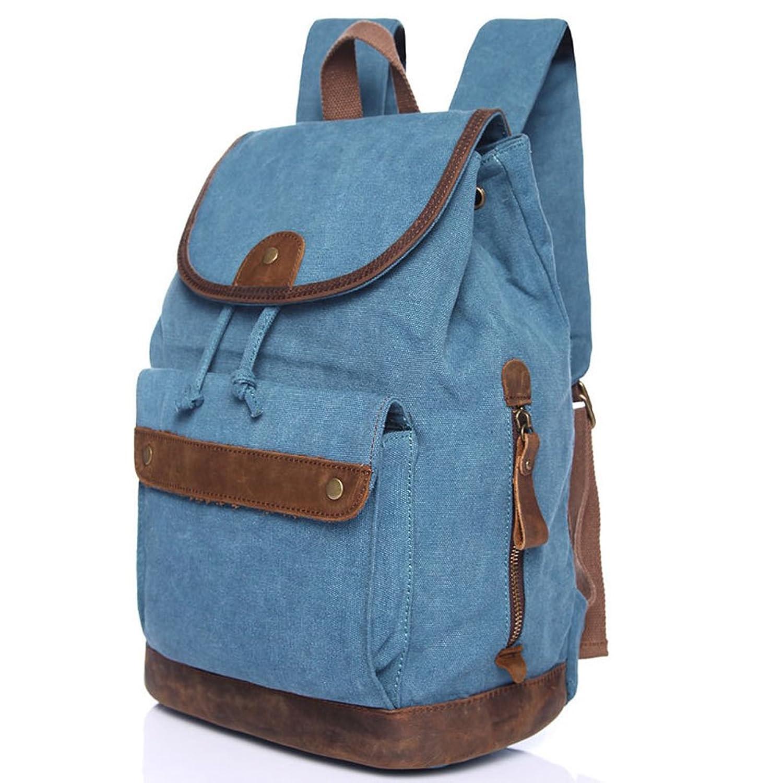 SOGAR Girl's & Boy's Canvas School Bag Shoulder Satchel Backpack Cute Bookbag for Outdoor,3 Colors
