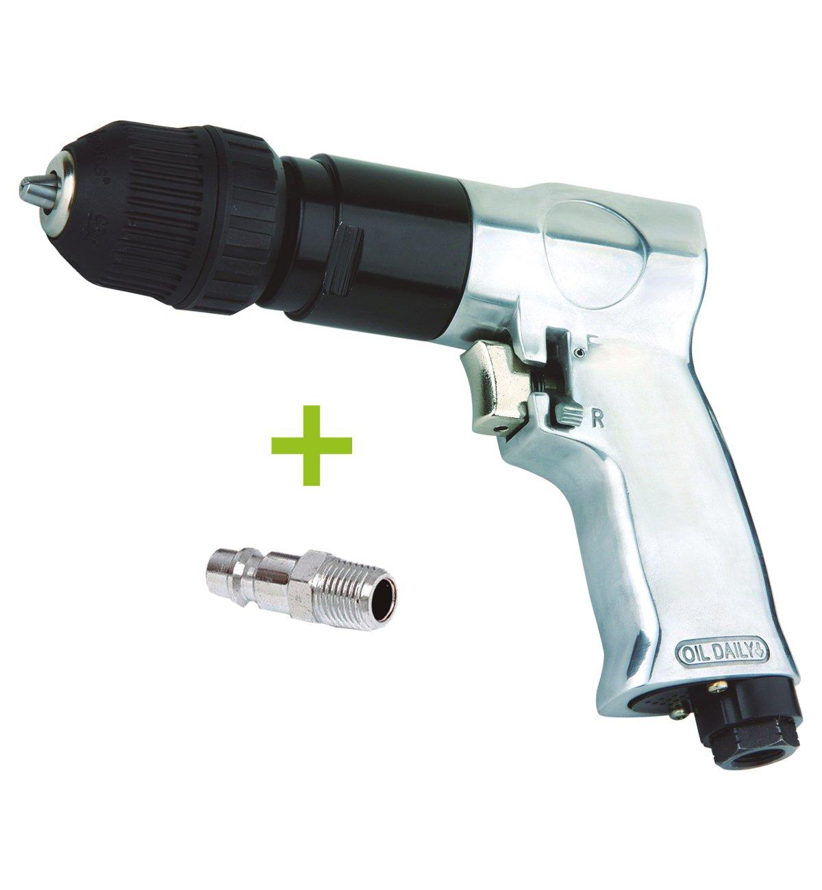 Perceuse pneumatique ré versible automatique de 10 mm pour compresseur d' air avec raccord mâ le de 1/4' 18 000 tr/min RZ