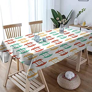"Long Tablecloth 60""x 84"" Inch,Core Pattern in Retro Colors Eaten Food Fruit Organic,Dark Coral Pale Orange Sea Green Patterned Wallpaper Kitchen Table Decoration"