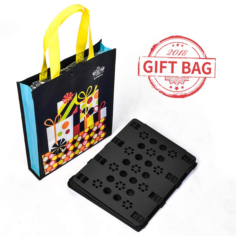 BoxLegend T shirt Clothes Folder T-shirt Folding Board Flip Fold Laundry Organizer Black Easy and Fast for Kid and Adult to Fold Clothes Gift Bag Packaging