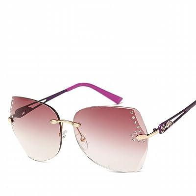 Lunettes de Soleil Fashion Ladies Ocean Lens Retro Sunglasses