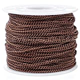 CleverDelights Curb Chain Spool - 2.2x3mm Link - Antique Copper Color - 330 Feet - Bulk Jewelry Roll