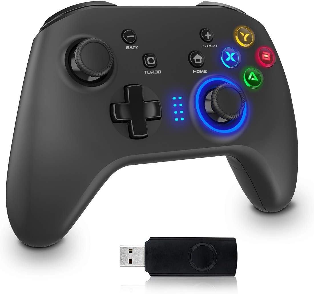 OPOLAR ワイヤレスコントローラー pc 2.4G無線ゲームパット 背面ボタン