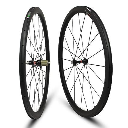 8e157cee4de Amazon.com : Yuanan Low Profile Carbon Wheel Tubular Tubeless Wheelset For Climbing  Road Bike Wheelset : Sports & Outdoors