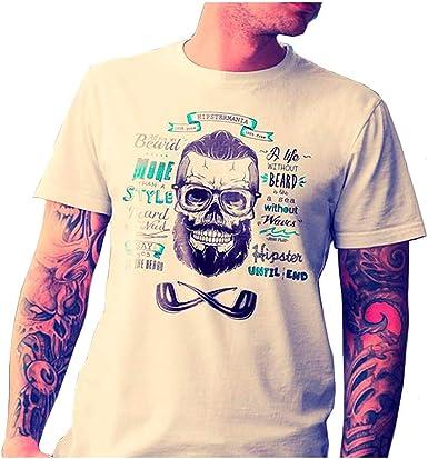 Camiseta Hombre Blanco Hipster Mania - Talla S: Amazon.es: Ropa y accesorios