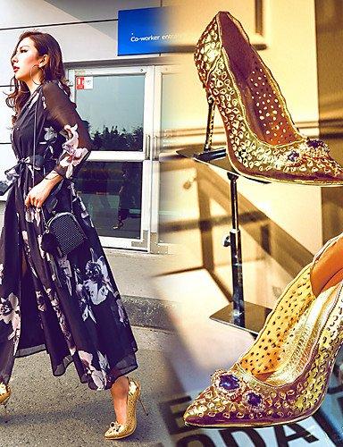 Noche golden Gladiador Stiletto Zapatos eu39 de mujer eu39 us8 uk6 golden eu39 GGX us8 Vestido Puntiagudos Tacón Microfibra golden us8 uk6 cn39 cn39 uk6 cn39 Oro Tacones Fiesta y Tacones Yw7dpdnW