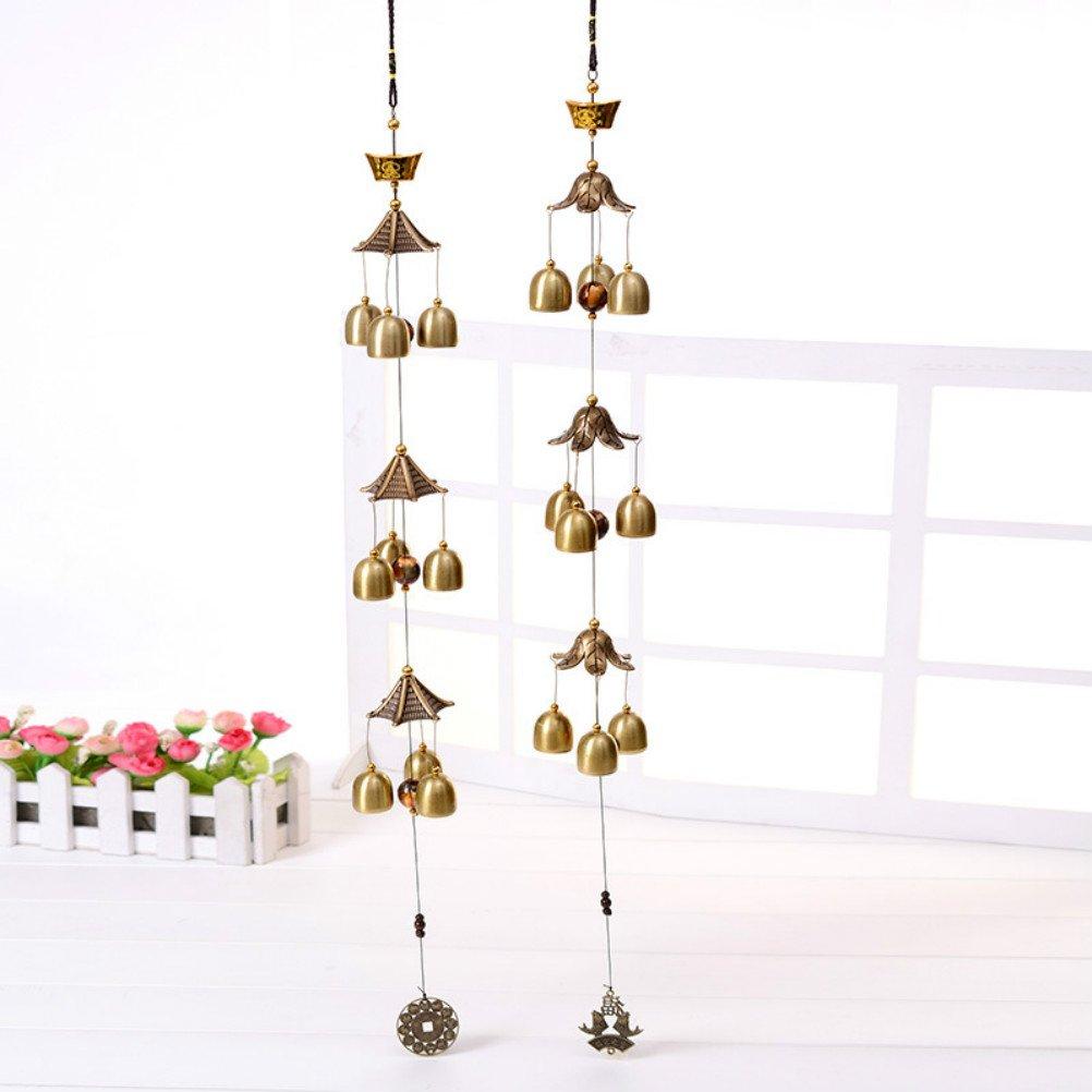 Große Wind Glocken Kupfer Wind Chimes Bell Outdoor Dekorationen Gute Glück Metall Origial DE lamp