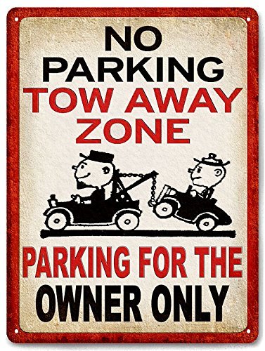 (NO PARKING tow away zone METAL SIGN funny warning garage driveway wall decor 630)