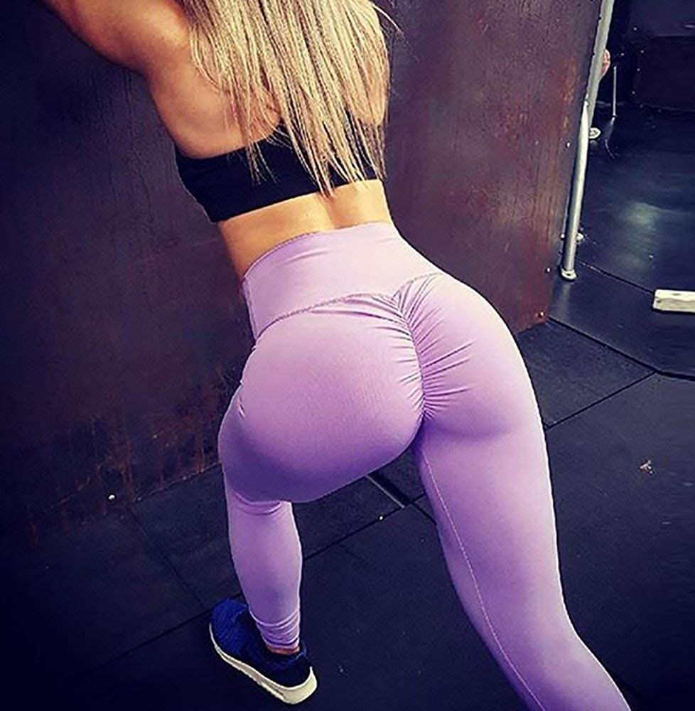 542d5f2ad0f PASLTER Womens Sexy Butt Lift High Waist Athletic Leggings Ruched Workout  Sport Tights Yoga Pants at Amazon Women s Clothing store