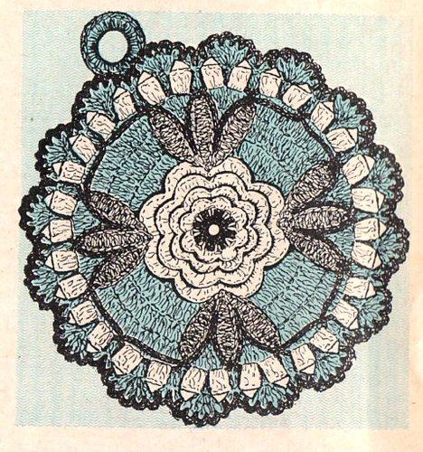 Rose Panholder Pot Holder Crochet Pattern
