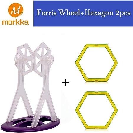 Imagen deBloques de construcción de Bloques magnéticos de 64 Piezas Juegos educativos para niños, de Morcare Construction Building Sets (64 pcs) (Ferris Wheel)