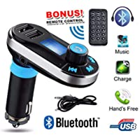 Bluetooth Car Kit FM Transmitter MP3 Player SD USB Charger