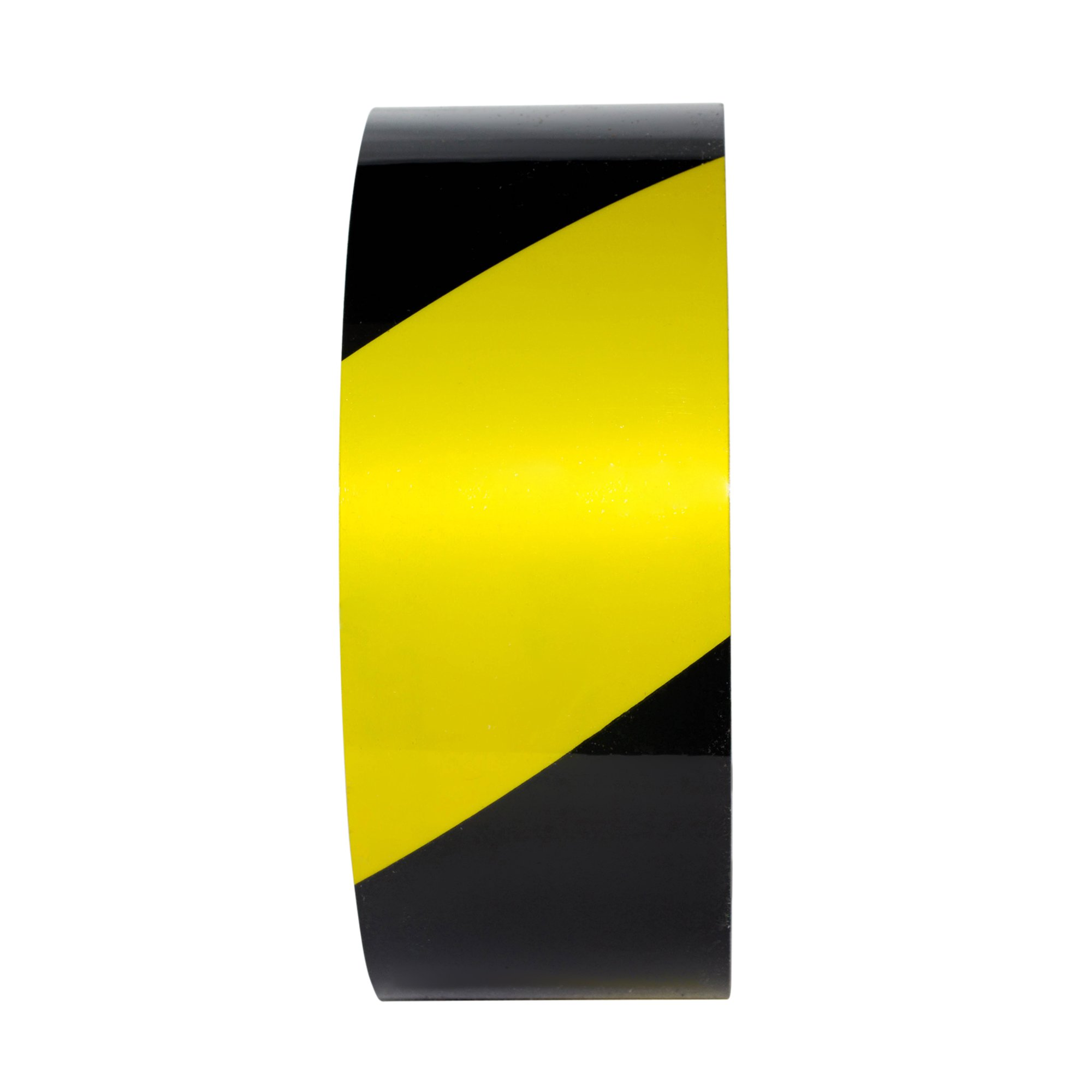 TuffMark Superior Adhesive Floor Marking Tape,Tear Resistant Floor Tape,Floor Safe Marking Tape for Warehouse Workplace Surfaces - Black/Yellow - 4-inch x 100-Foot (1 Roll)