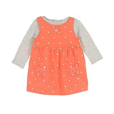 Carter's Baby Girls Polka-Dot Bodysuit & French Terry Jumper Set