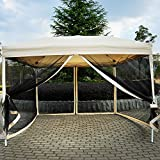 10' x 10' Pop Up Tent Mesh Screen Patio Shade tan