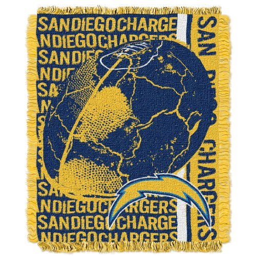 The Northwest Company NFL Los Angeles Chargers Double Play Jacquard Throw, 48