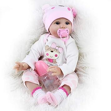 Amazon.es: ZELY 22 Pulgadas Realista Reborn Muñeca Bebé Silicona ...